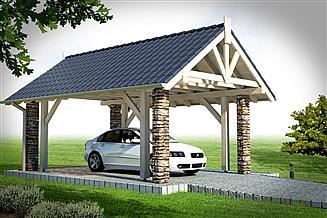 Projekt wiaty garażowej Wiata 1B