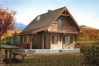 Projekt domu letniskowego Murator DL13S Urlopowy (rekreacyjny)