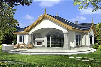Projekt domu Arabella 2A P 2-garaże