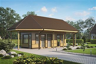 Projekt altany BG1 - Pawilon ogrodowy