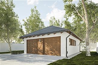 Projekt garażu G253 - Budynek garażowo - gospodarczy