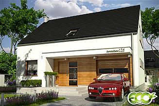 Projekt domu Emma trend z garażem 1-st. [A]