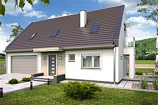 Projekt domu Kevin B 2-garaże