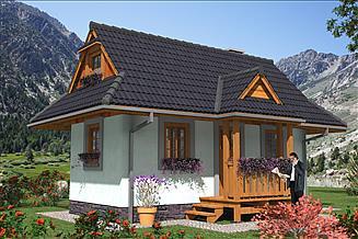 Projekt domu letniskowego LEG-1 Dom szkieletowy