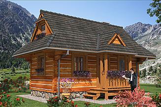 Projekt domu letniskowego LEG-1 Dom z bali