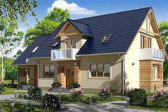 Projekt domu BS-15 dwulokalowy