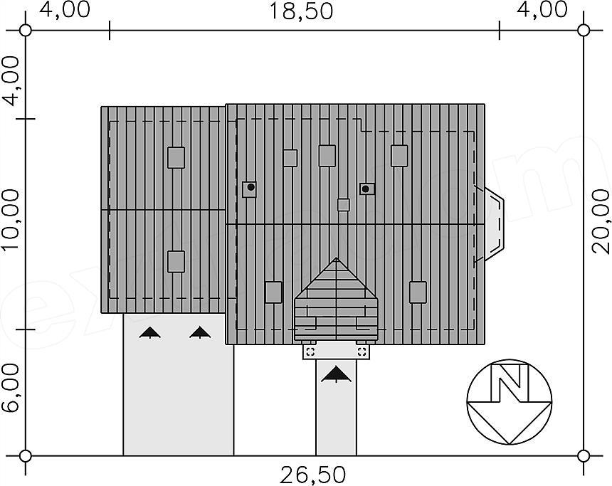 Projekt Domu Bw 12 Garaż 2 Stanowiskowy 1353 M2 Koszt Budowy 222