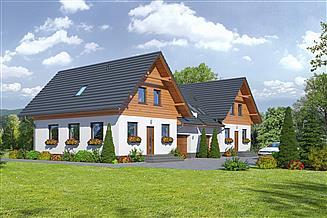Projekt domu Gronowo xy bliźniak