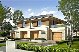 Projekt domu Fernando G1 (bliźniak) energo