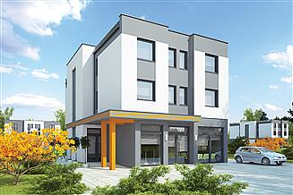Projekt budynku wielorodzinnego Murator UC63 Budynek mieszkalno-usługowy