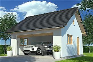 Projekt garażu APG-5 B - budynek gospodarczy