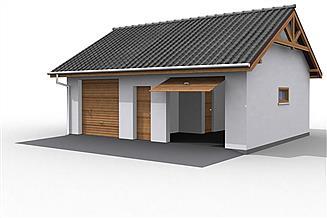 Projekt budynku gospodarczego G11 szkielet drewniany budynek gospodarczy