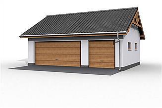 Projekt budynku gospodarczego G17 szkielet drewniany budynek gospodarczy