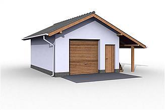 Projekt budynku gospodarczego G21 szkielet drewniany budynek gospodarczy