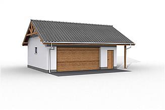 Projekt budynku gospodarczego G22 szkielet drewniany budynek gospodarczy