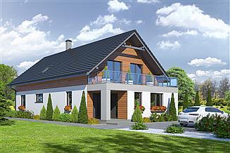 Projekt domu Wąsowo + biuro