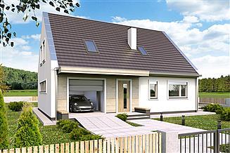 Projekt domu Robin A garaż
