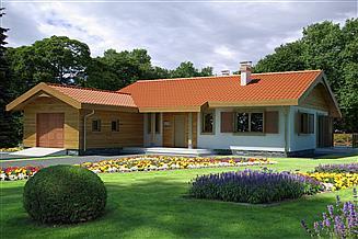 Projekt domu Anulka z garażem z przodu