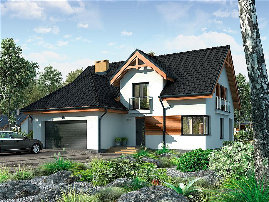 Projekt domu lizbona 181 57 m2 koszt budowy extradom - Casas prefabricadas cuenca ...