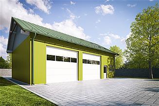 Projekt garażu G262 - Budynek garażowo - gospodarczy