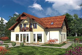 Projekt pensjonatu Murator UC19a Budynek usługowy z pokojami gościnnymi