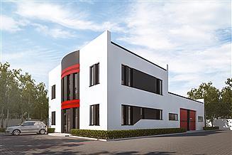 Projekt magazynu G268 - Budynek magazynowo - biurowy
