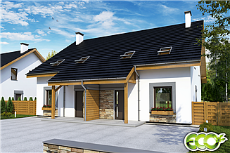 Projekt domu Azalia bez garażu bliźniak [B-BL1]