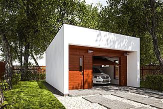 Projekt garażu G279 - Budynek garażowy