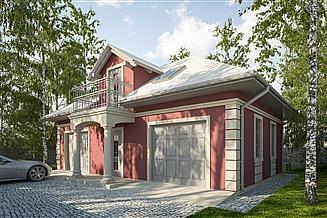 Projekt garażu G284 - Budynek garażowo - gospodarczy