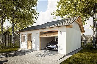 Projekt garażu G276 - Budynek garażowo - gospodarczy