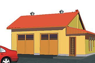 Projekt garażu BR-174