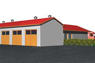 Projekt garażu BR 199