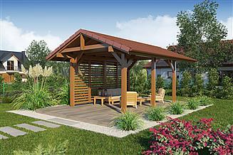 Projekt altany Wiata ogrodowa