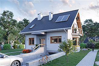 Projekt domu Sonia Mini - murowana-beton komórkowy