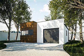 Projekt garażu G296 - Budynek garażowo - gospodarczy