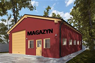 Projekt magazynu G291 - Budynek magazynowy