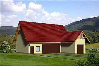 Projekt budynku gospodarczego MD-G138
