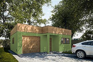 Projekt garażu G303 - Budynek garażowo - gospodarczy