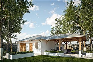 Projekt garażu G294 - Budynek garażowo - gospodarczy