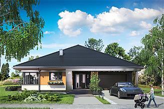 Projekt domu Karol - murowana – beton komórkowy