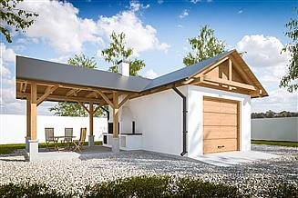 Projekt garażu G292 - Budynek garażowy