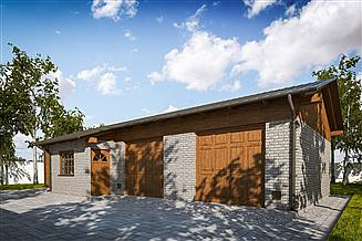Projekt garażu G293 - Budynek garażowo - gospodarczy