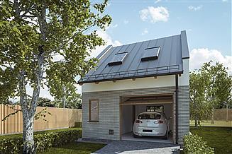 Projekt garażu G309 - Budynek garażowo - gospodarczy