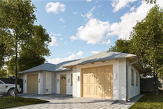 Projekt garażu G301 - Budynek garażowo - gospodarczy