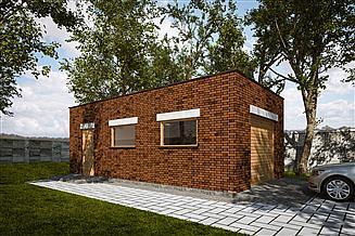 Projekt garażu G313 - Budynek garażowy