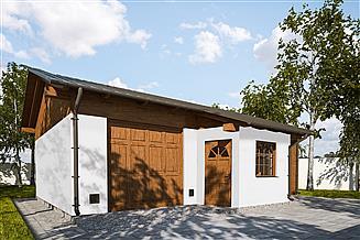 Projekt garażu G314 - Budynek garażowo - gospodarczy