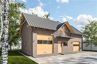 Projekt garażu G308 - Budynek garażowo - gospodarczy