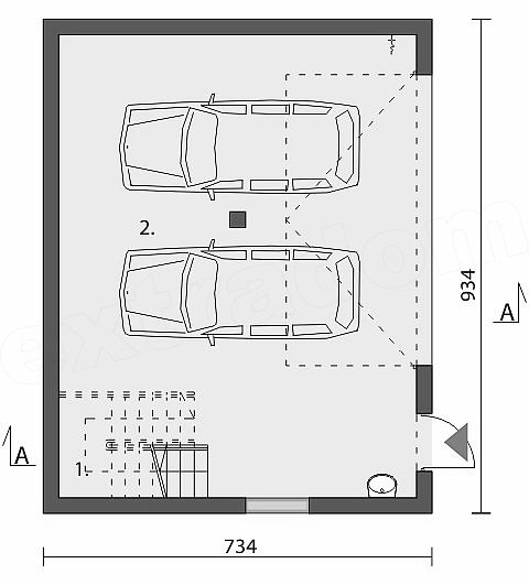 Projekt Domu Garaż Budynek Gospodarczy Zg 87 Domiportapl