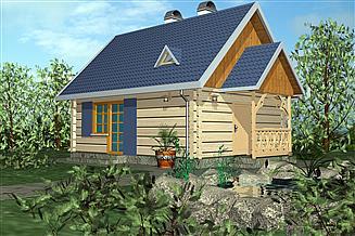 Projekt domu letniskowego BR 028