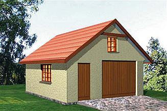 Projekt garażu BR 051d